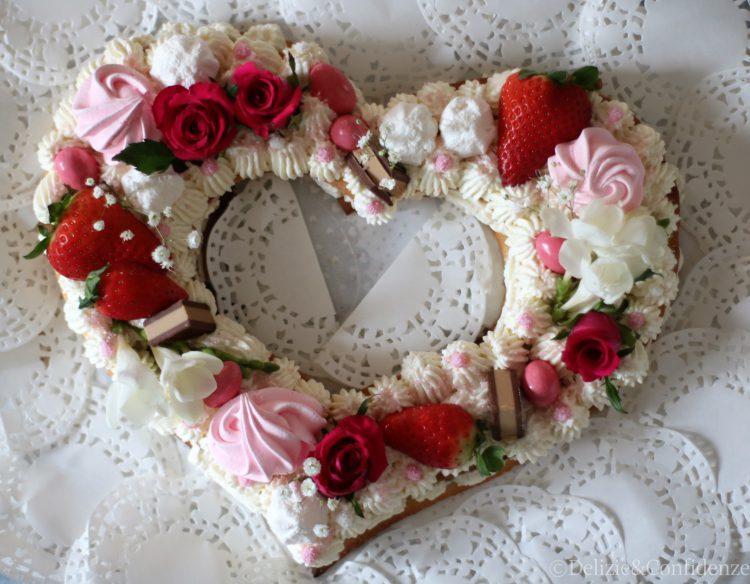 Heart Cream Tart Con Frolla Alle Mandorle Namelaka Al Cocco E